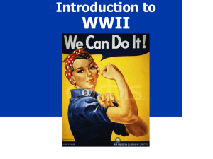WWII Introduction to