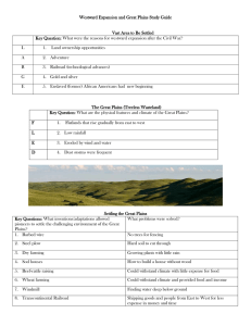 Westward Expansion and Great Plains Study Guide