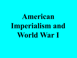 American Imperialism and World War I
