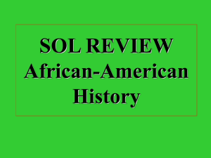 SOL REVIEW African-American History