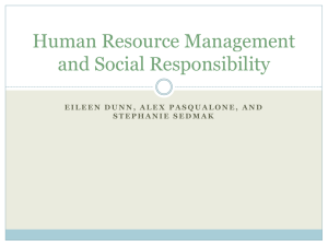 Human Resource Management and Social Responsibility