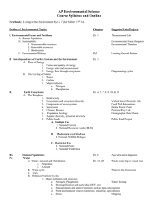 AP Environmental Course Syllabus and Outline  .