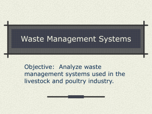 Waste Management Systems Objective:  Analyze waste management systems used in the