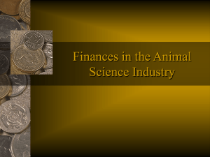 Finances in the Animal Science Industry