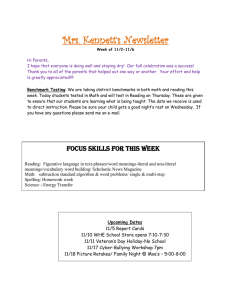 Mrs. Kennett's Newsletter