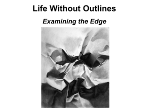Life Without Outlines Examining the Edge