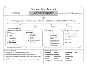 An Emerging America American Geography