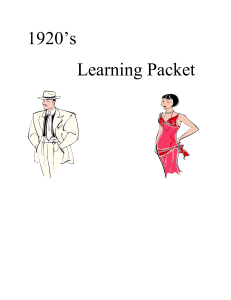 1920's Learning Packet