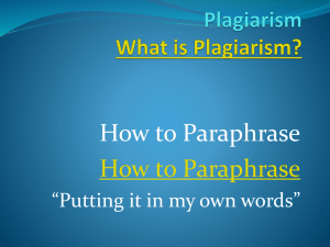 "How to Paraphrase ""Putting it in my own words"""
