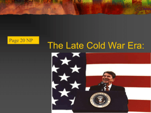 The Late Cold War Era: Page 20 NP
