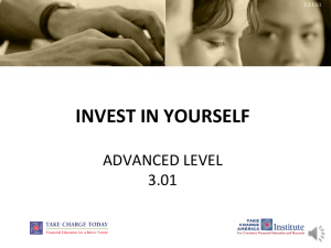 INVEST IN YOURSELF ADVANCED LEVEL 3.01 2.3.1.G1