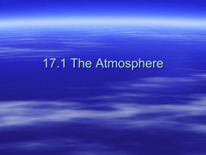 17.1 The Atmosphere