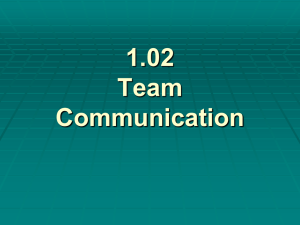 1.02 Team Communication