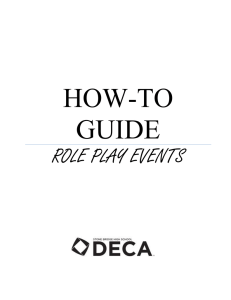 HOW-TO GUIDE ROLE PLAY EVENTS