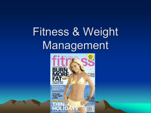 Fitness & Weight Management