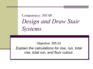 Design and Draw Stair Systems Competency: 305.00