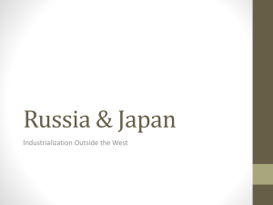 Russia & Japan Industrialization Outside the West