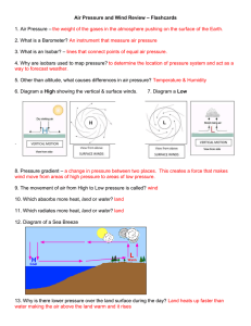 – Flashcards Air Pressure and Wind Review  –