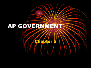 AP GOVERNMENT Chapter 5