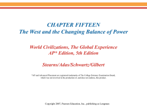 CHAPTER FIFTEEN The West and the Changing Balance of Power