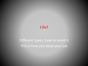 Libel Different types, how to avoid it