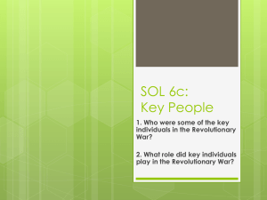 SOL 6c: Key People