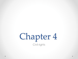 Chapter 4 Civil rights