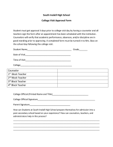 South Iredell High School College Visit Approval Form