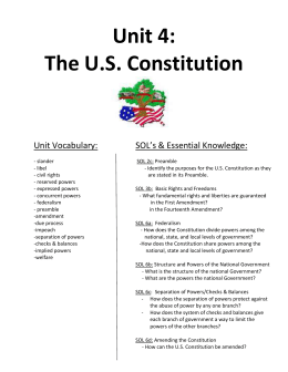 The constitution essay questions