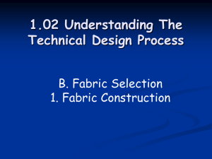 1.02 Understanding The Technical Design Process B. Fabric Selection 1. Fabric Construction