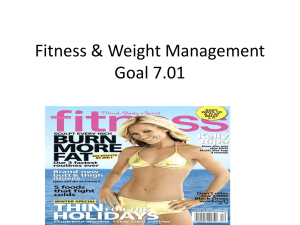 Fitness & Weight Management Goal 7.01
