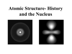 Atomic Structure- History and the Nucleus