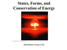 States, Forms, and Conservation of Energy Road Runner- Energy (1:23)