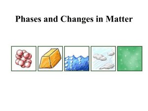 Phases and Changes in Matter