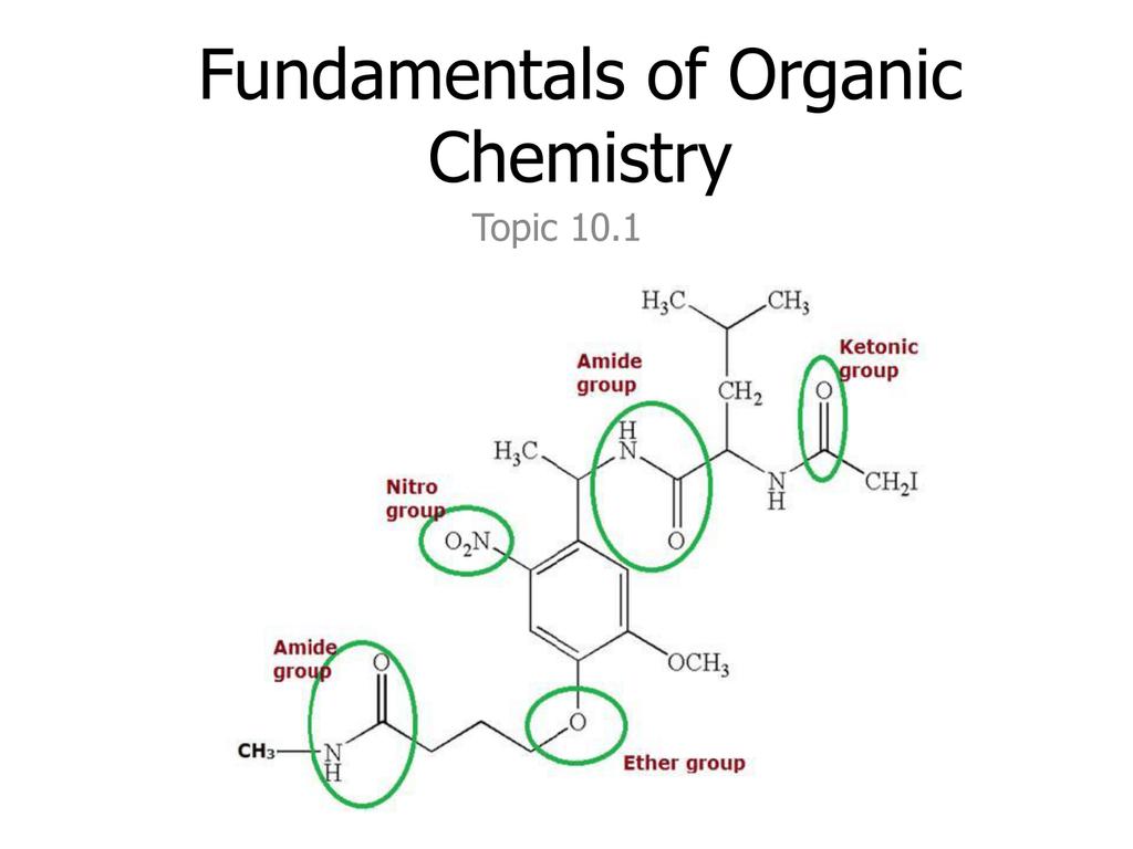 Fundamentals of Organic Chemistry Topic 10 1