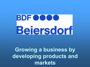 Growing a business by developing products and markets