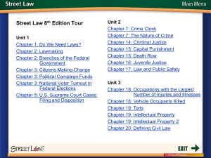 Street Law 8 Edition Tour