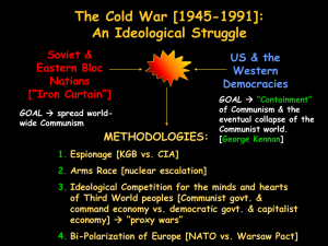 The Cold War [1945-1991]: An Ideological Struggle Soviet & Eastern Bloc