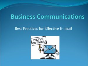 Best Practices for Effective E- mail
