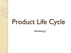 Product Life Cycle Marketing I