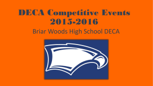 DECA Competitive Events 2015-2016 Briar Woods High School DECA