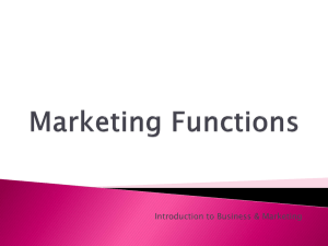 Introduction to Business & Marketing