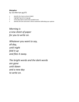 metaphor by eve merriam poem analysis