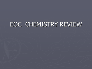 EOC  CHEMISTRY REVIEW
