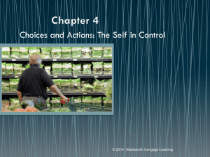 Choices and Actions: The Self in Control
