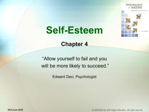 "Self-Esteem Chapter 4 ""Allow yourself to fail and you"