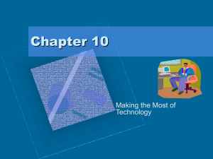 Chapter 10 Making the Most of Technology