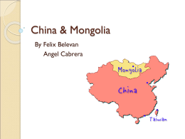 China & Mongolia By Felix Belevan Angel Cabrera