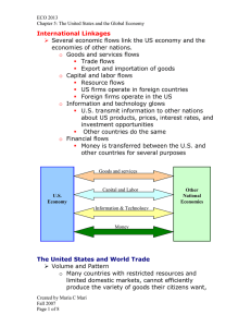 International Linkages   Several economic flows link the US economy and the