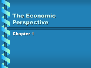The Economic Perspective Chapter 1